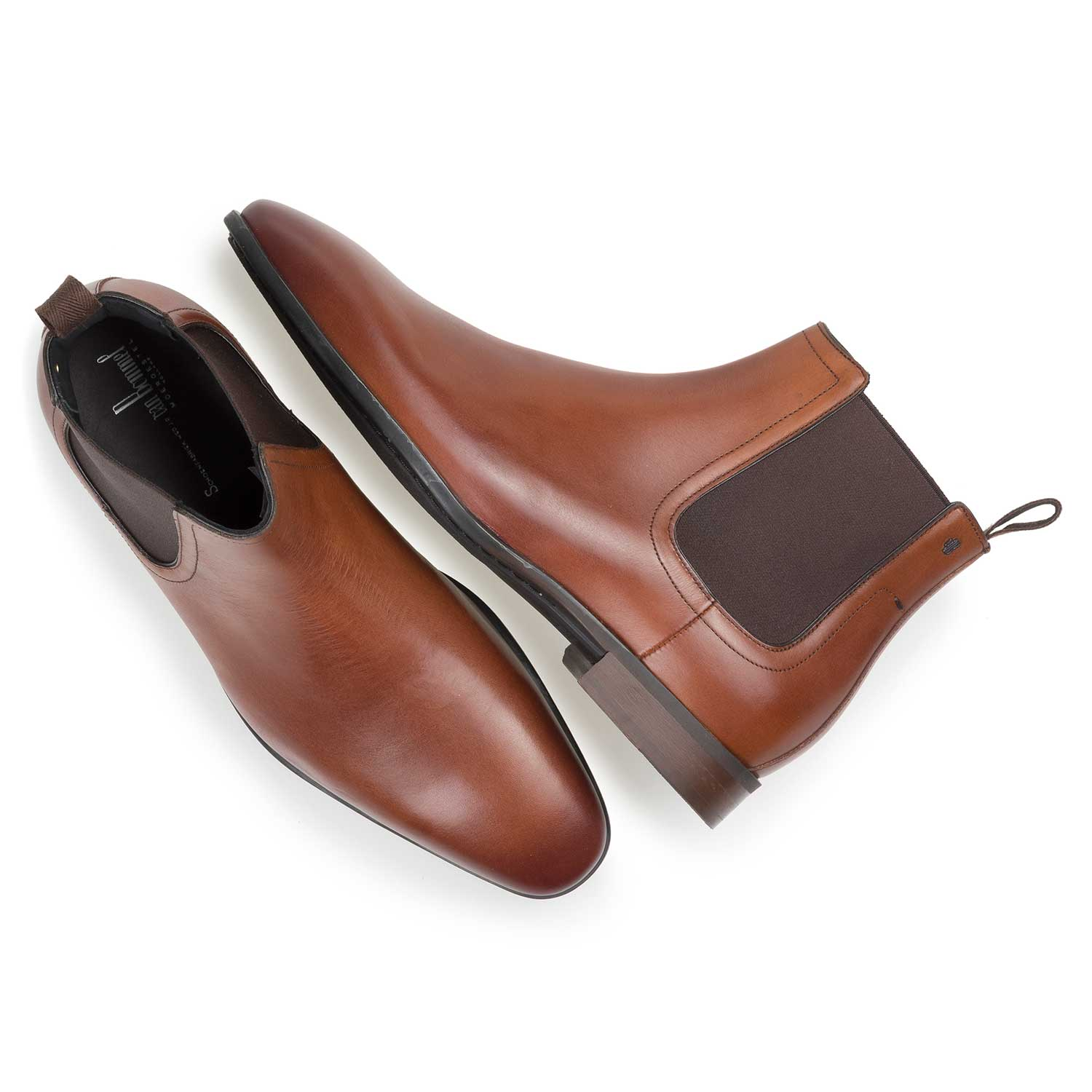10342/03 - Cognac-coloured calf leather Chelsea boot