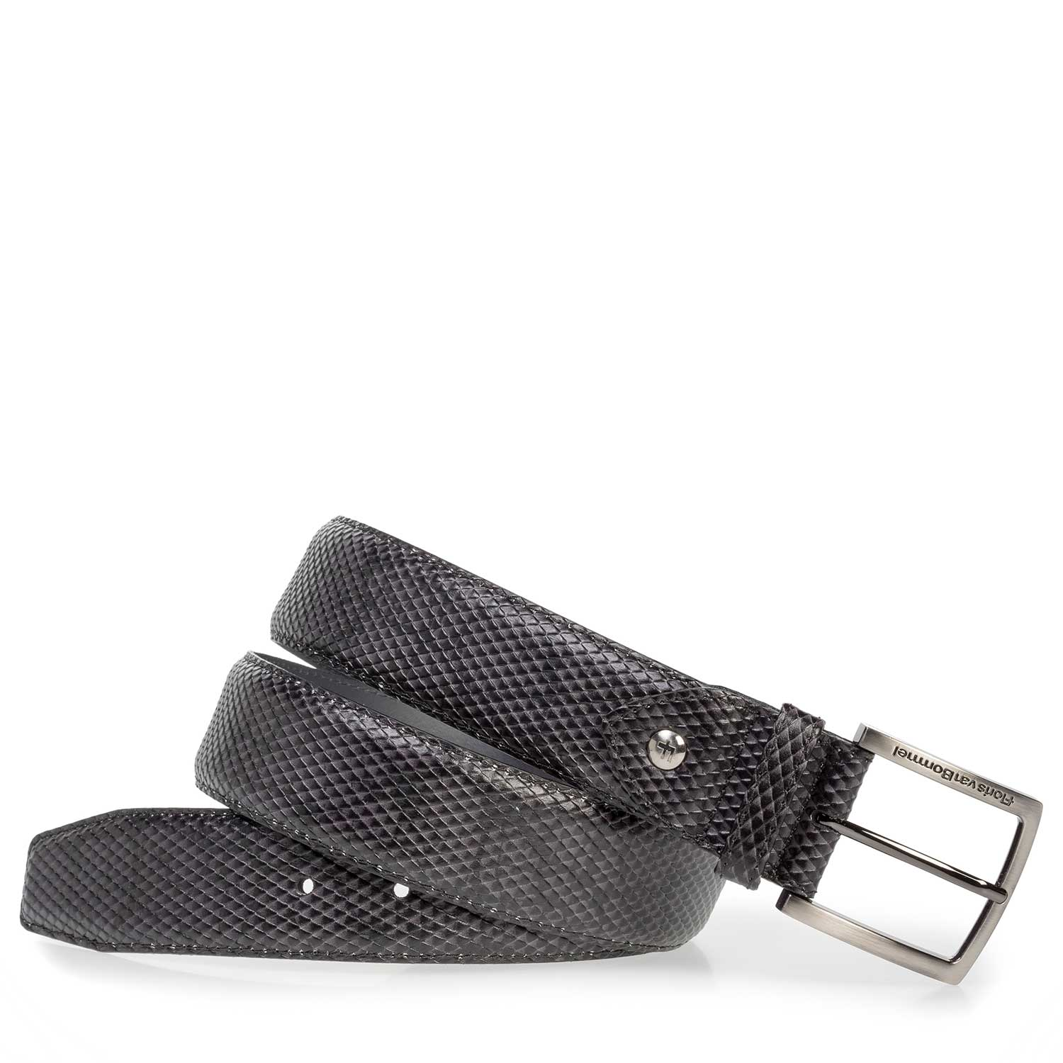 75202/35 - Dark grey leather belt