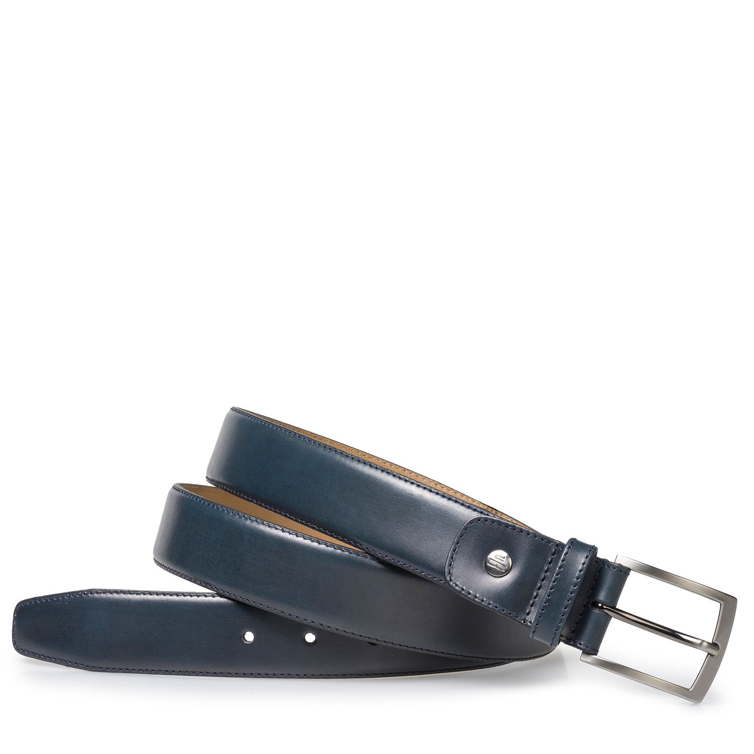 75076/39 - Blue calf leather belt