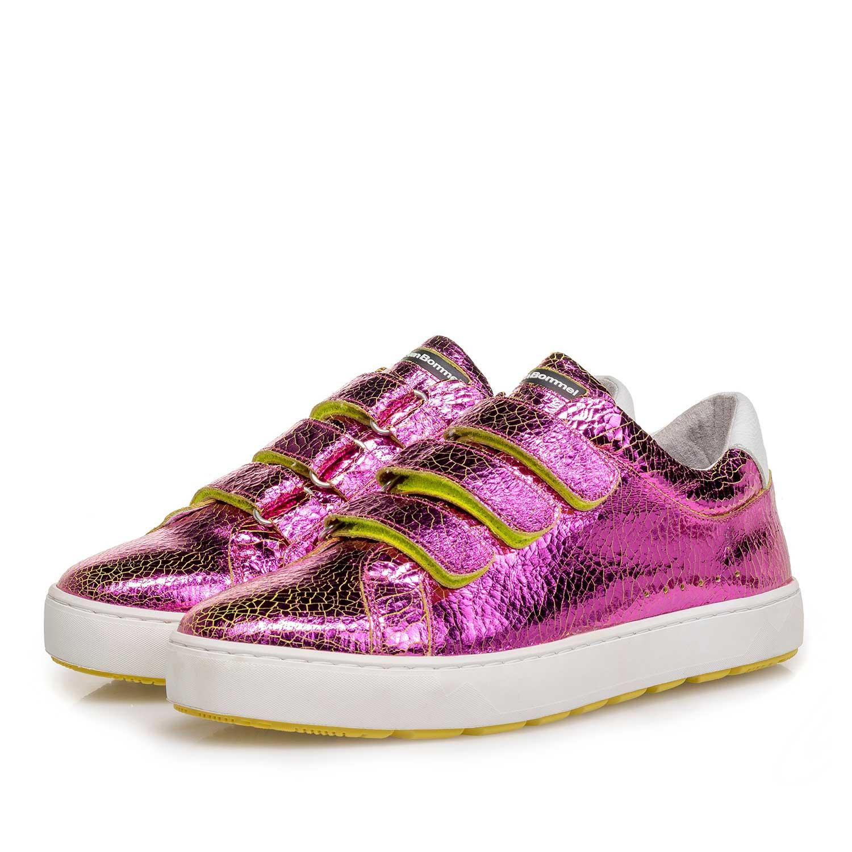preisreduziert Farben und auffällig hell im Glanz Rosa Metallic Damen-Sneaker 85273/18 | Floris van Bommel®