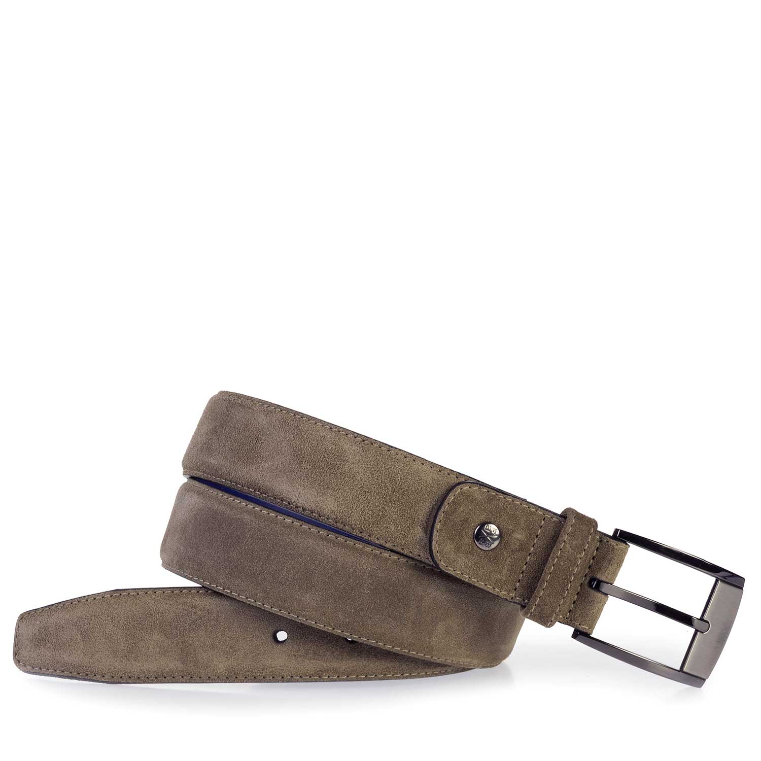 75183/04 - Belt suede leather taupe