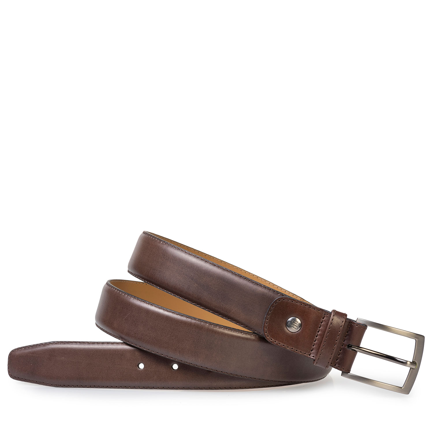 75533/37 - Dark brown calf leather belt