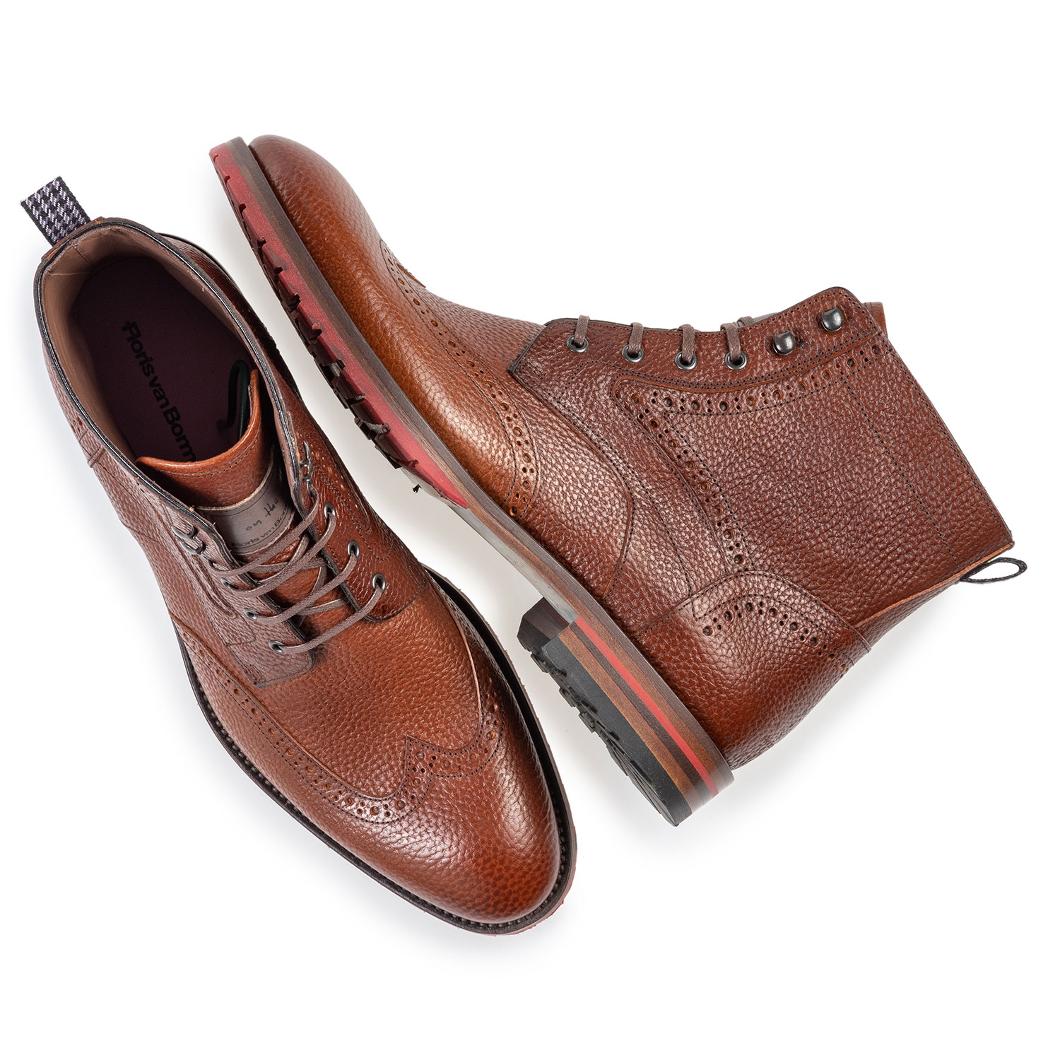 10295/22 - Leather brogue lace boot cognac