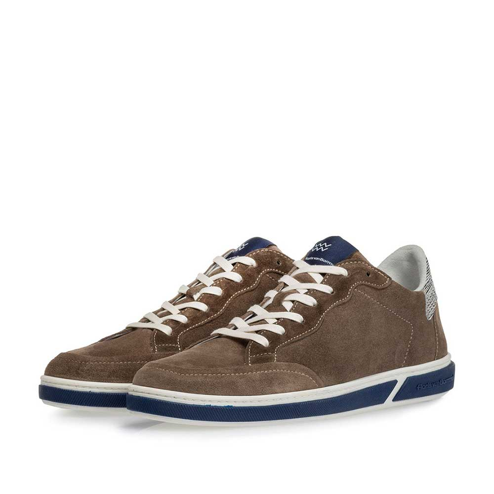 13350/17 - Sneaker suede leather taupe