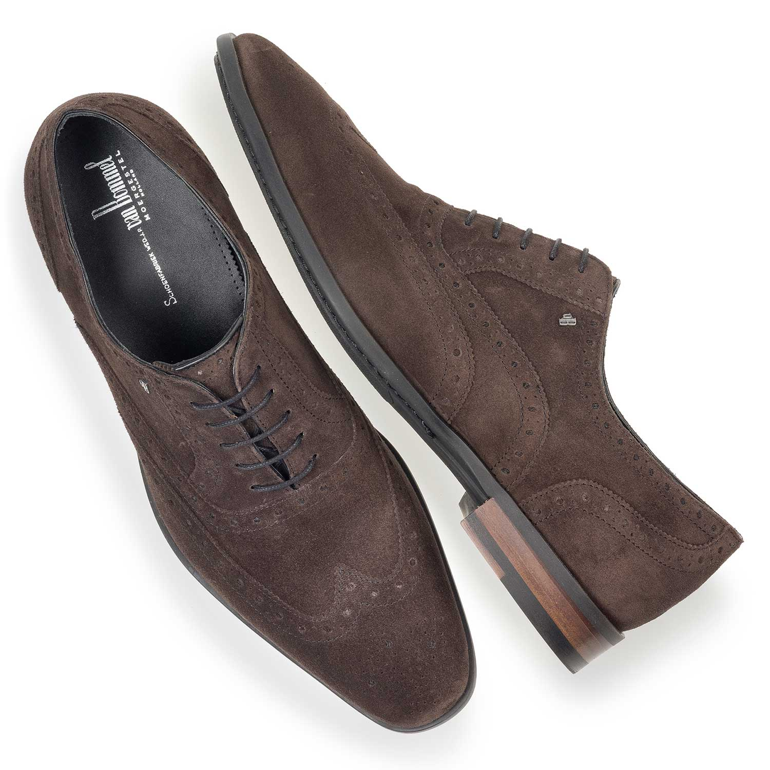 19105/01 - Brown calf suede leather brogue