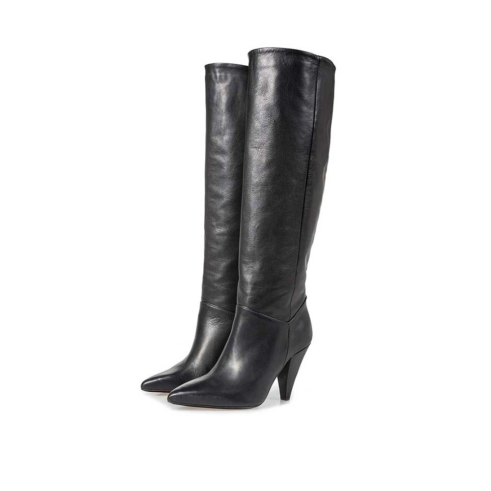 85709/02 - Black nappa leather boots