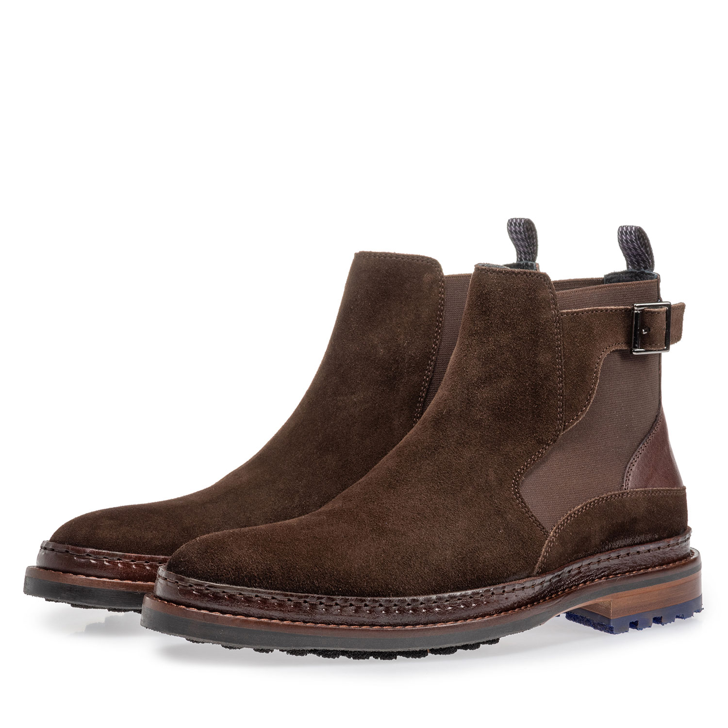 10529/06 - Chelsea boot dark brown suede leather