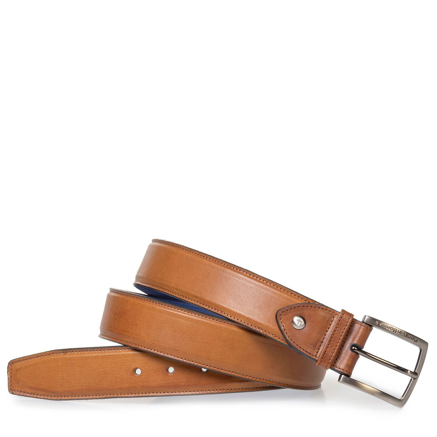 75189/60 - Cognac-coloured leather belt