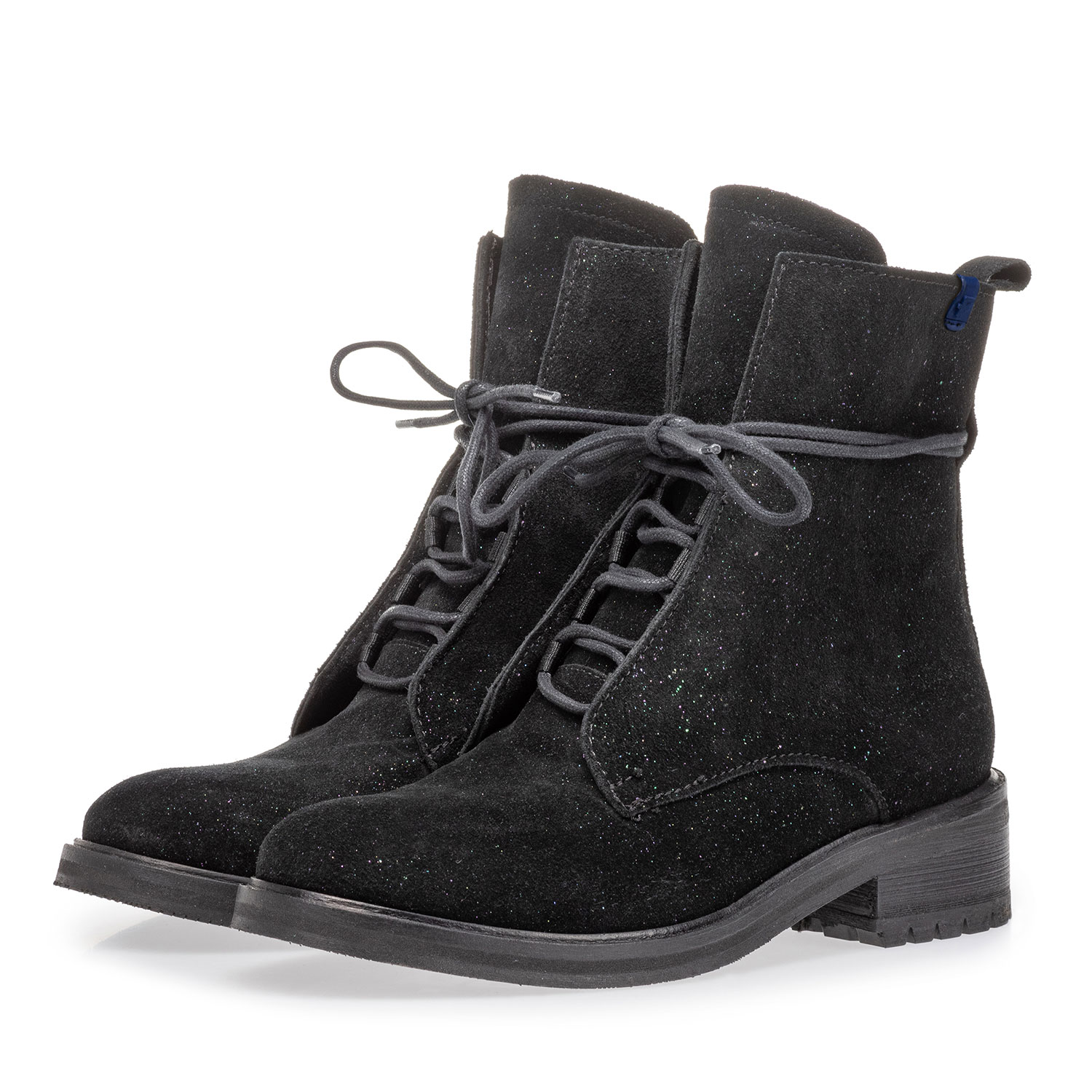 85647/00 - Lace boot black suede leather