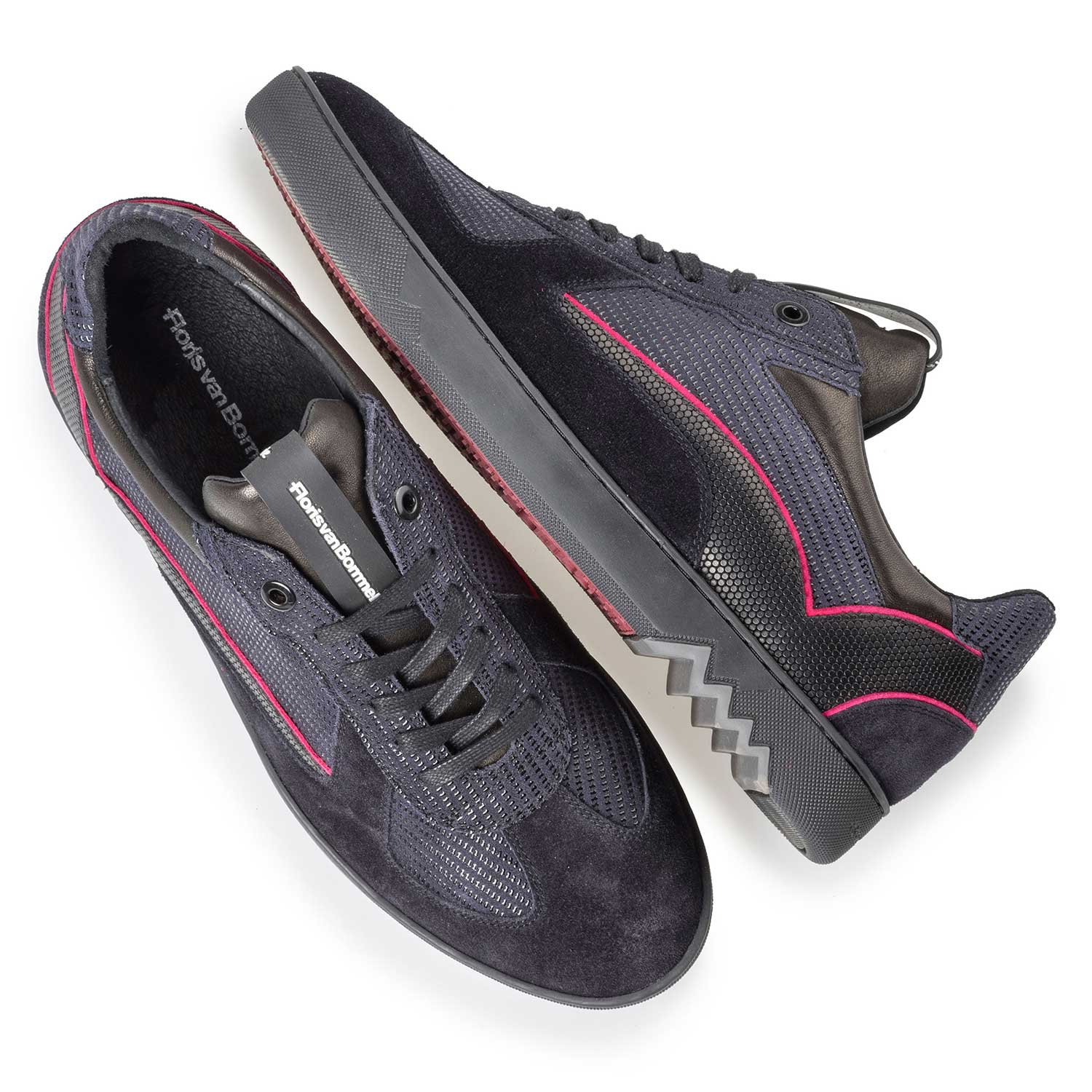 16242/07 - Dark blue sneaker with pink piping