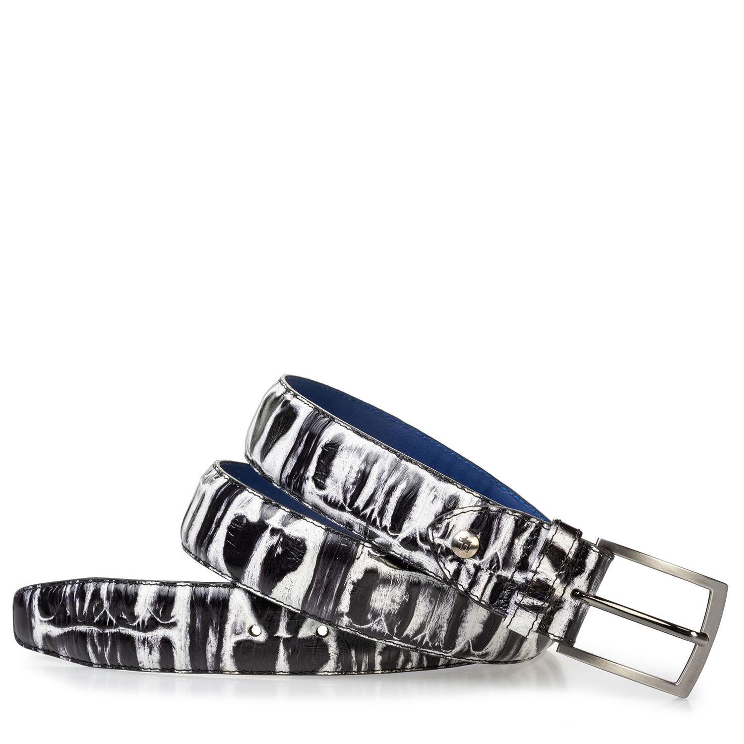75203/28 - Belt black and white croco print