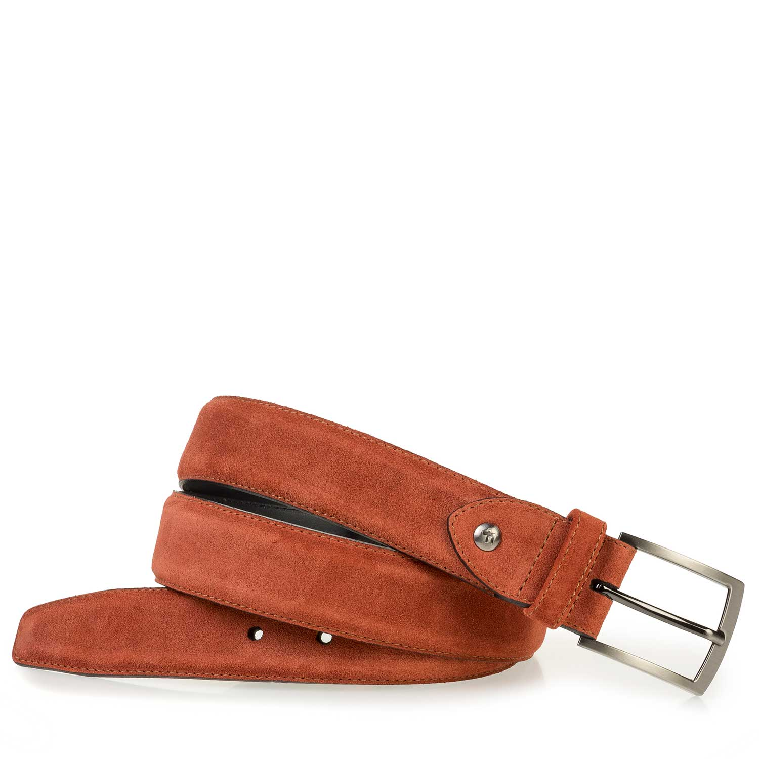 75200/45 - Orange and red belt made of waxed suede leather