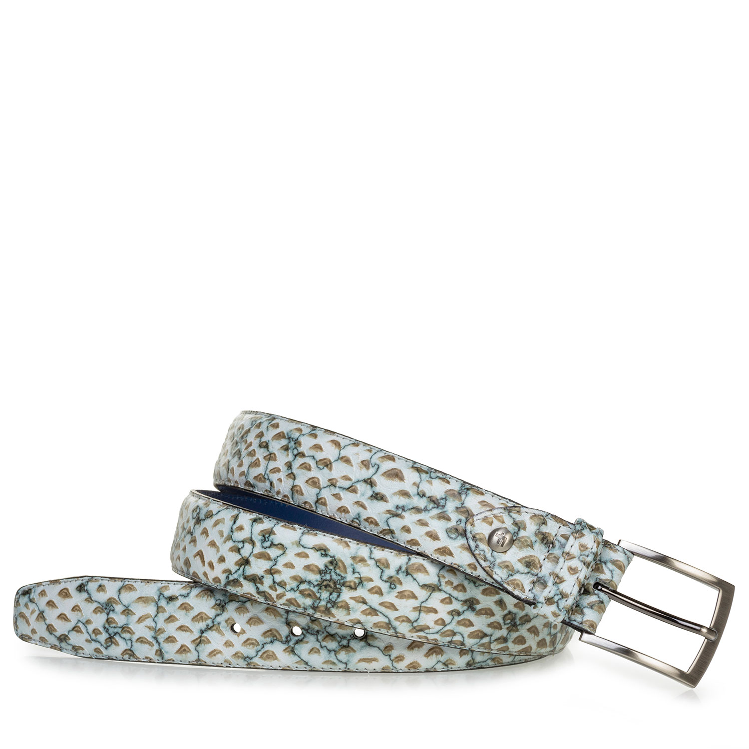 75203/95 - Belt printed leather sand-coloured