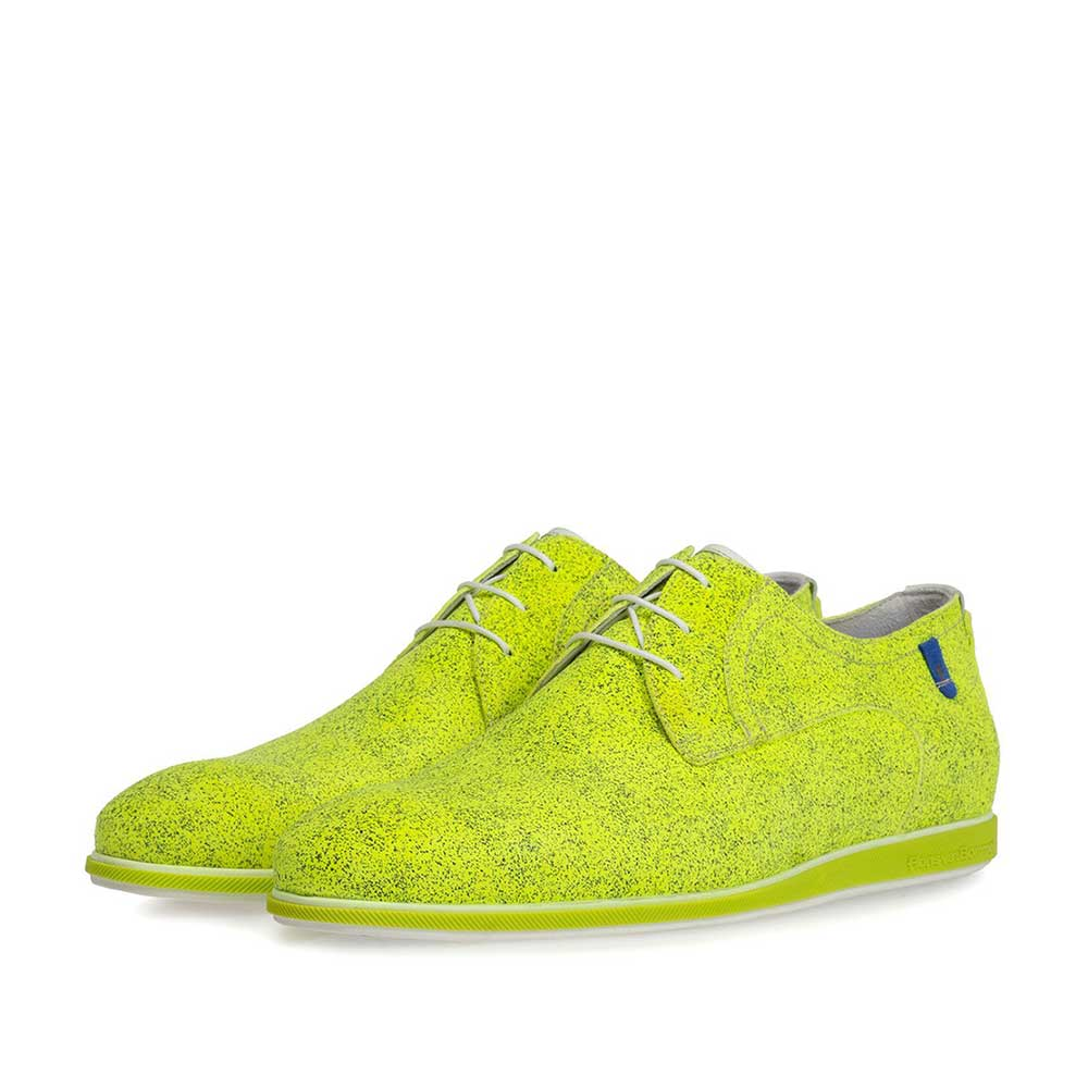 18126/00 - Lace shoe suede leather yellow