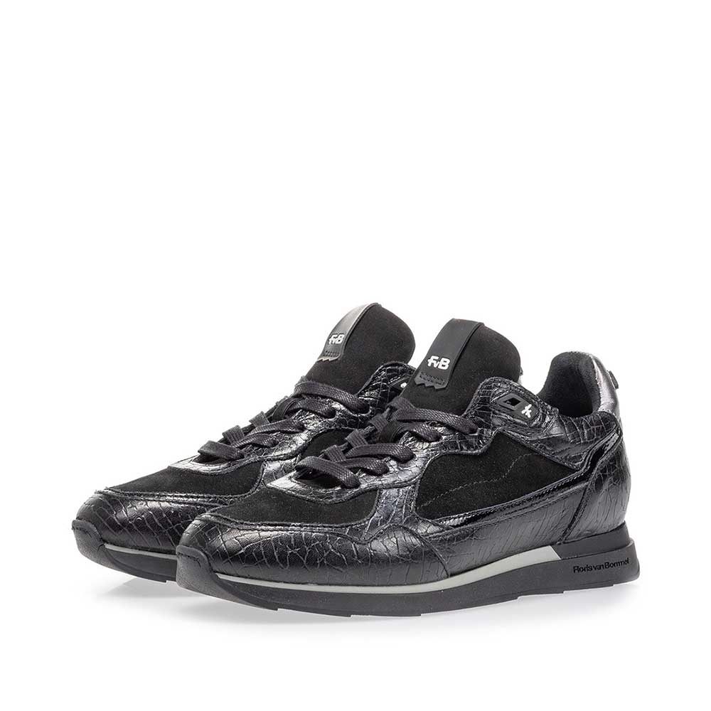85312/02 - Sneaker black leather