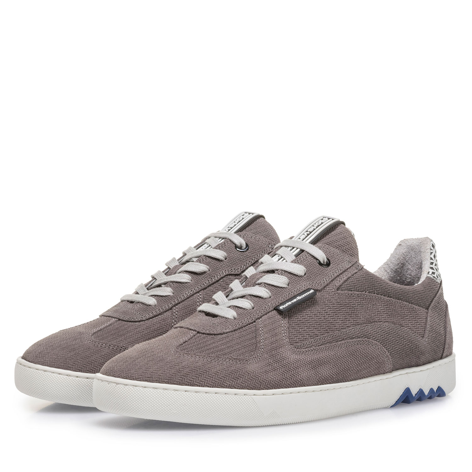 16342/23 - Grey suede leather sneaker with print