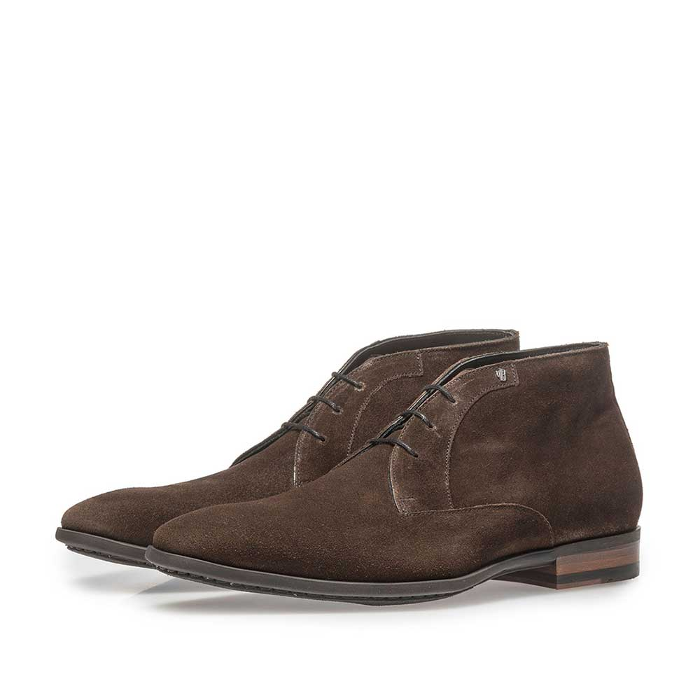 20057/01 - Dark brown suede leather lace boot