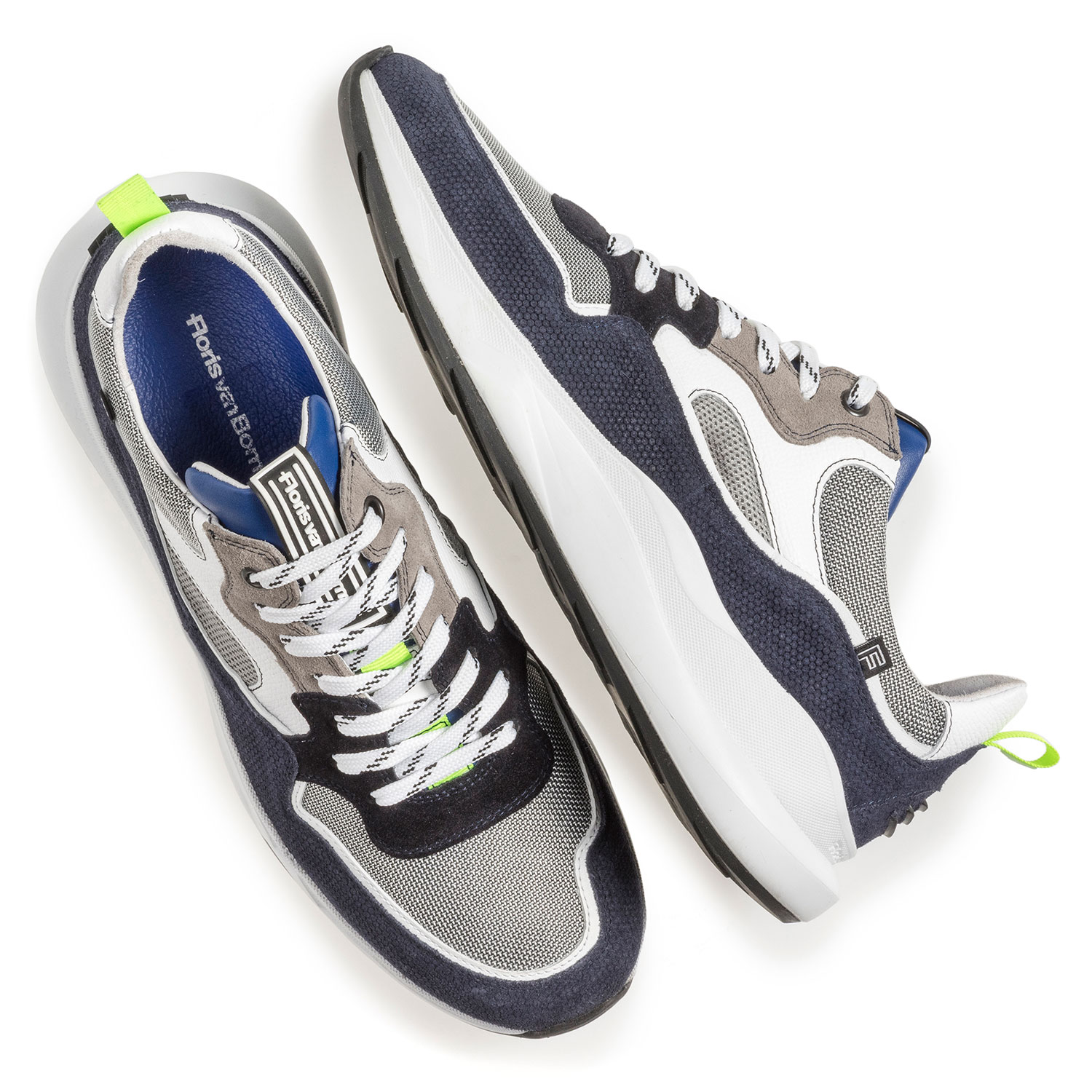 16269/18 - Blue and grey suede leather sneaker