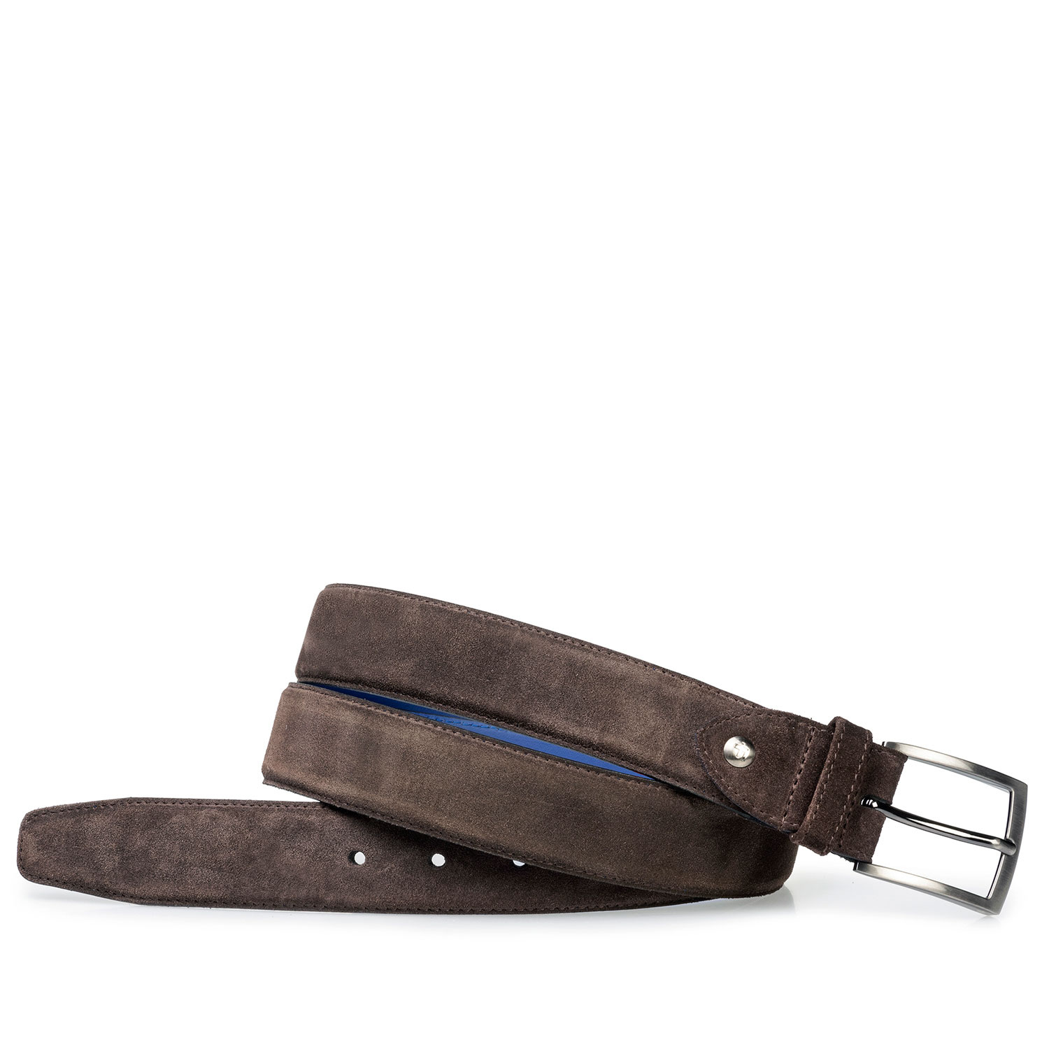 75200/41 - Dark brown suede leather belt