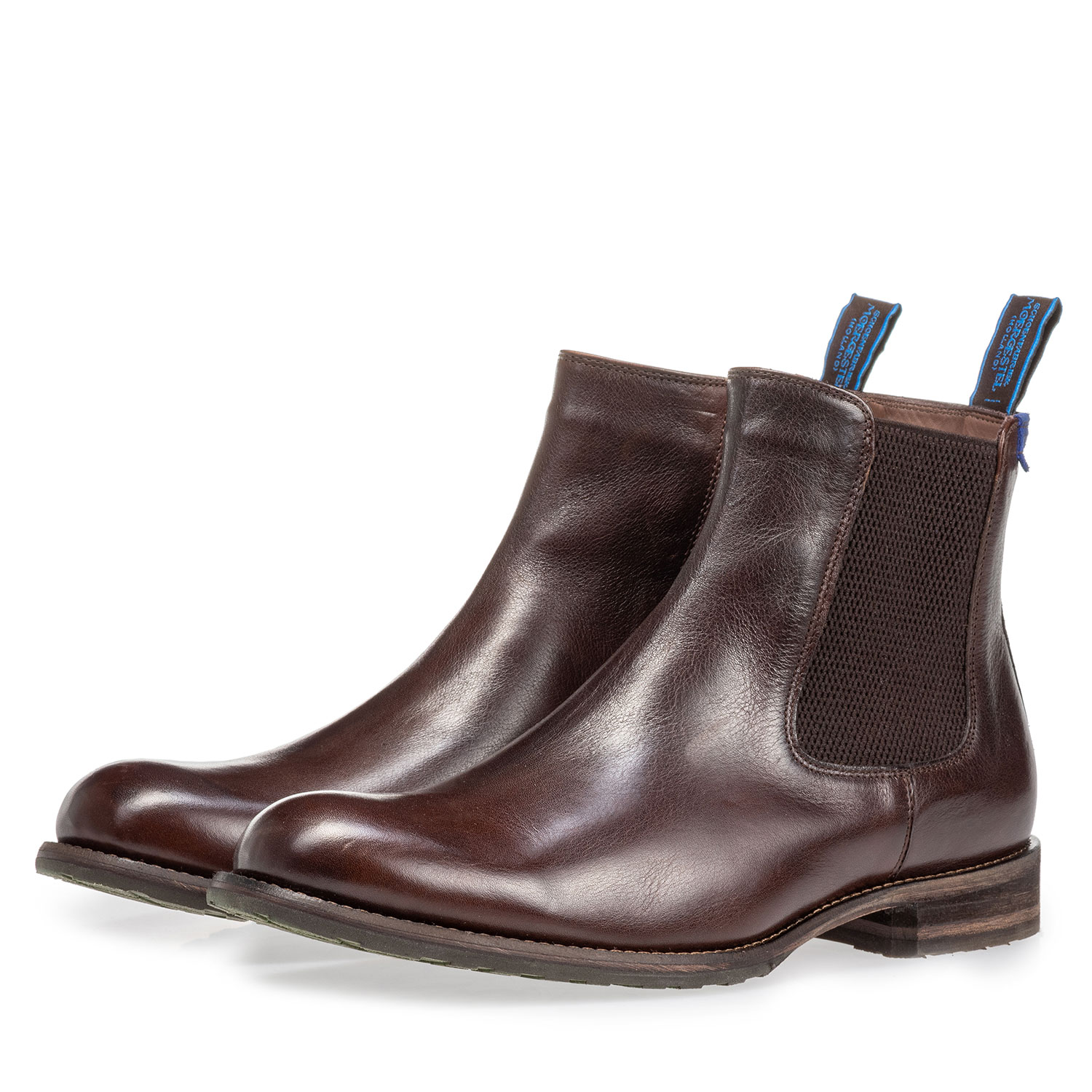 10289/21 - Lambskin lined brown Chelsea boot