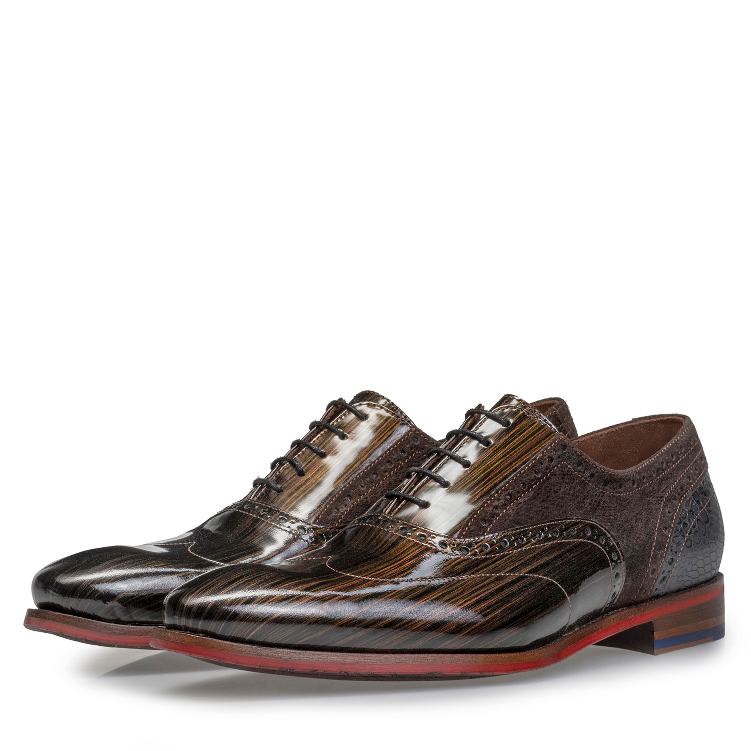 19124/03 - Brogue Lackleder bronzefarben