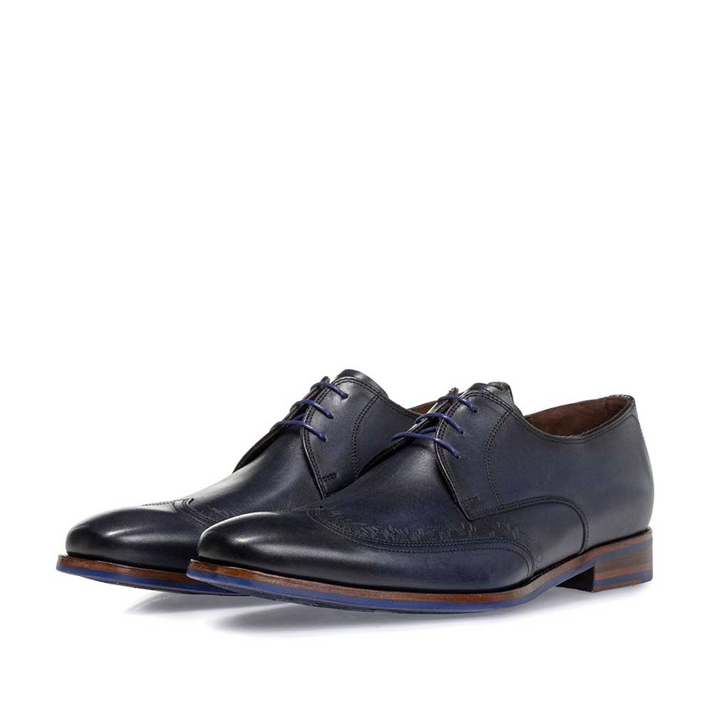 18212/01 - Lace shoe blue calf leather