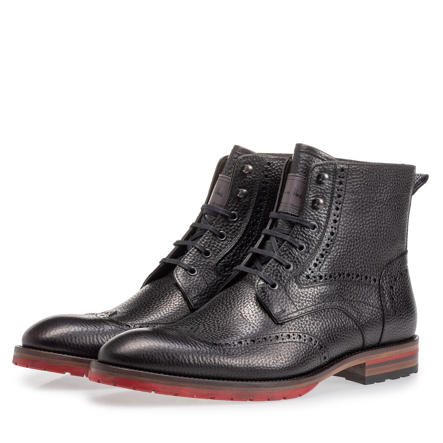 10295/23 - Leather brogue lace boot black