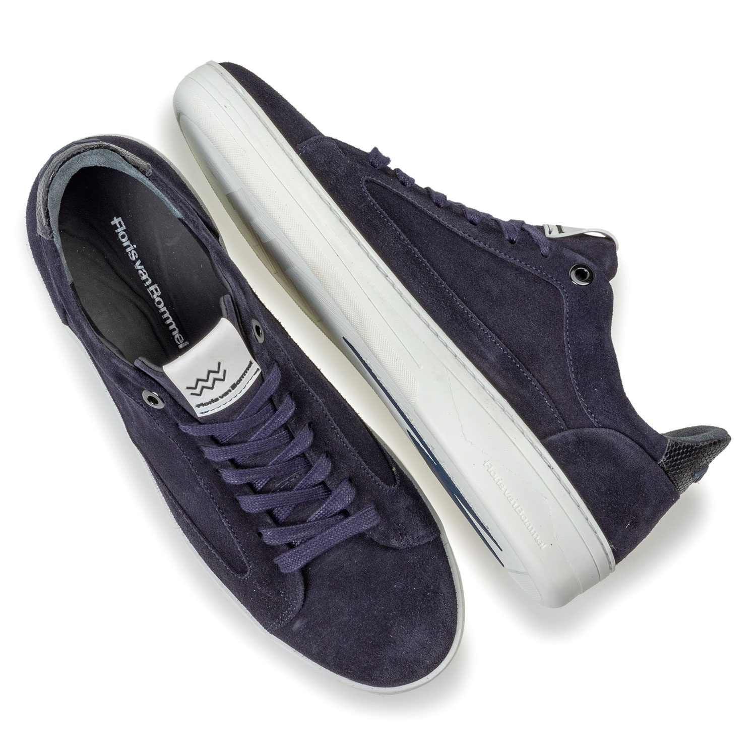 13265/28 - Sneaker blue suede leather