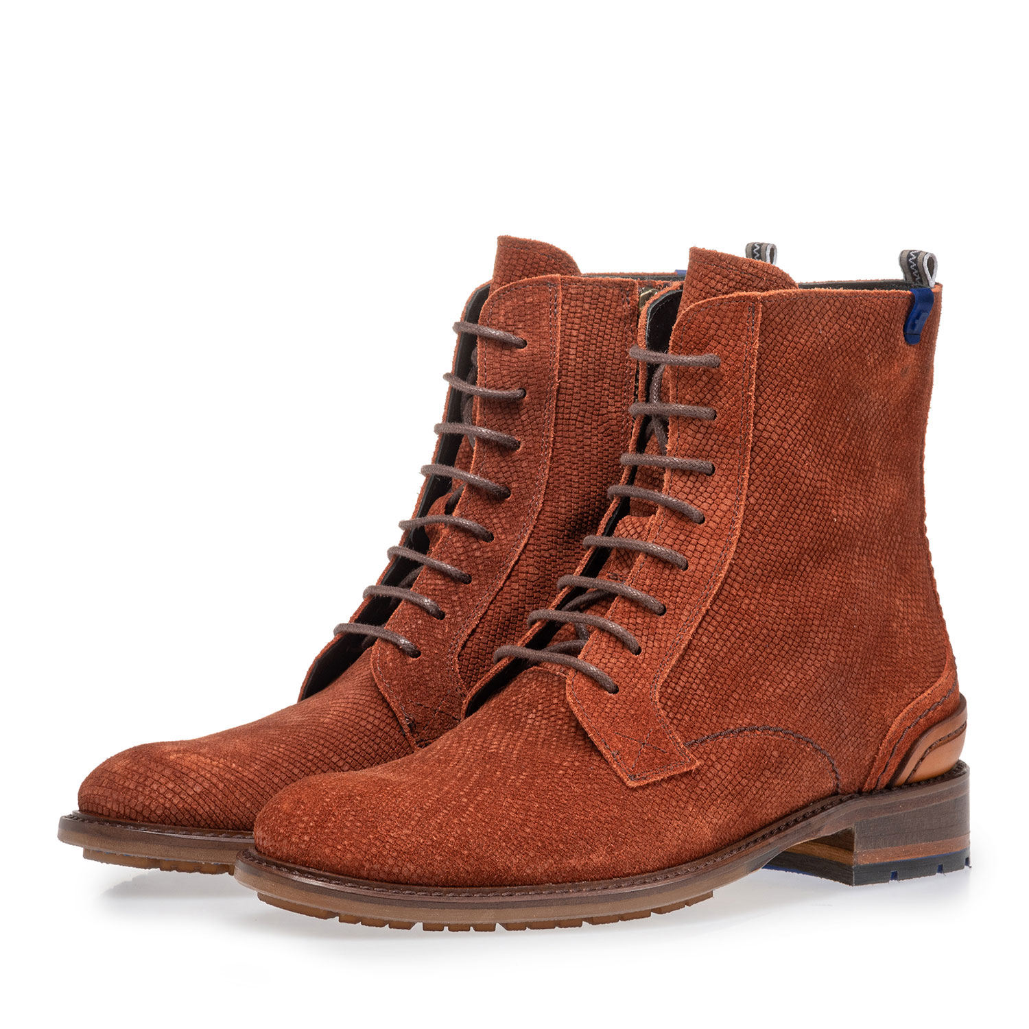 85644/05 - Lace boot brown suede leather