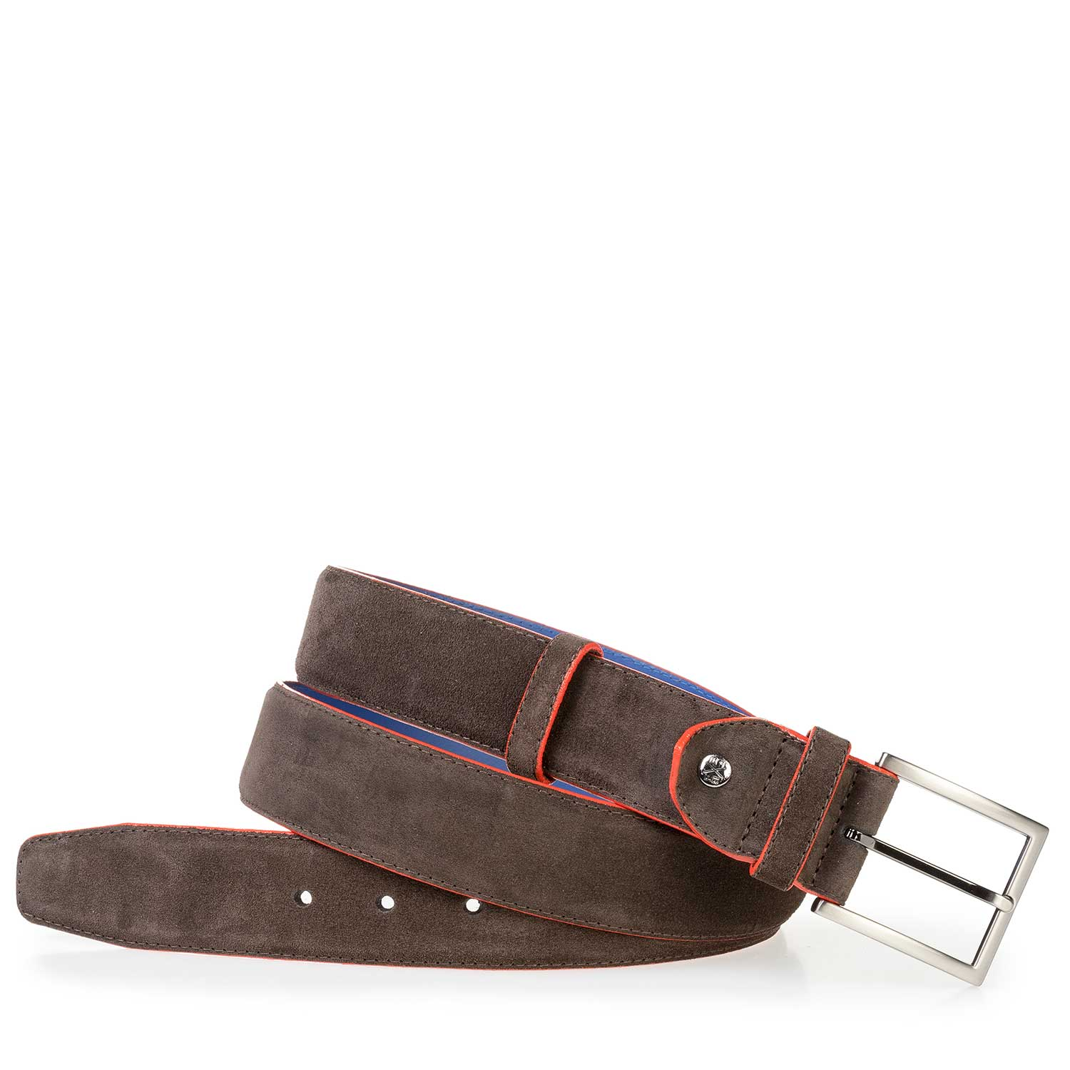 75037/15 - Dark brown suede leather belt