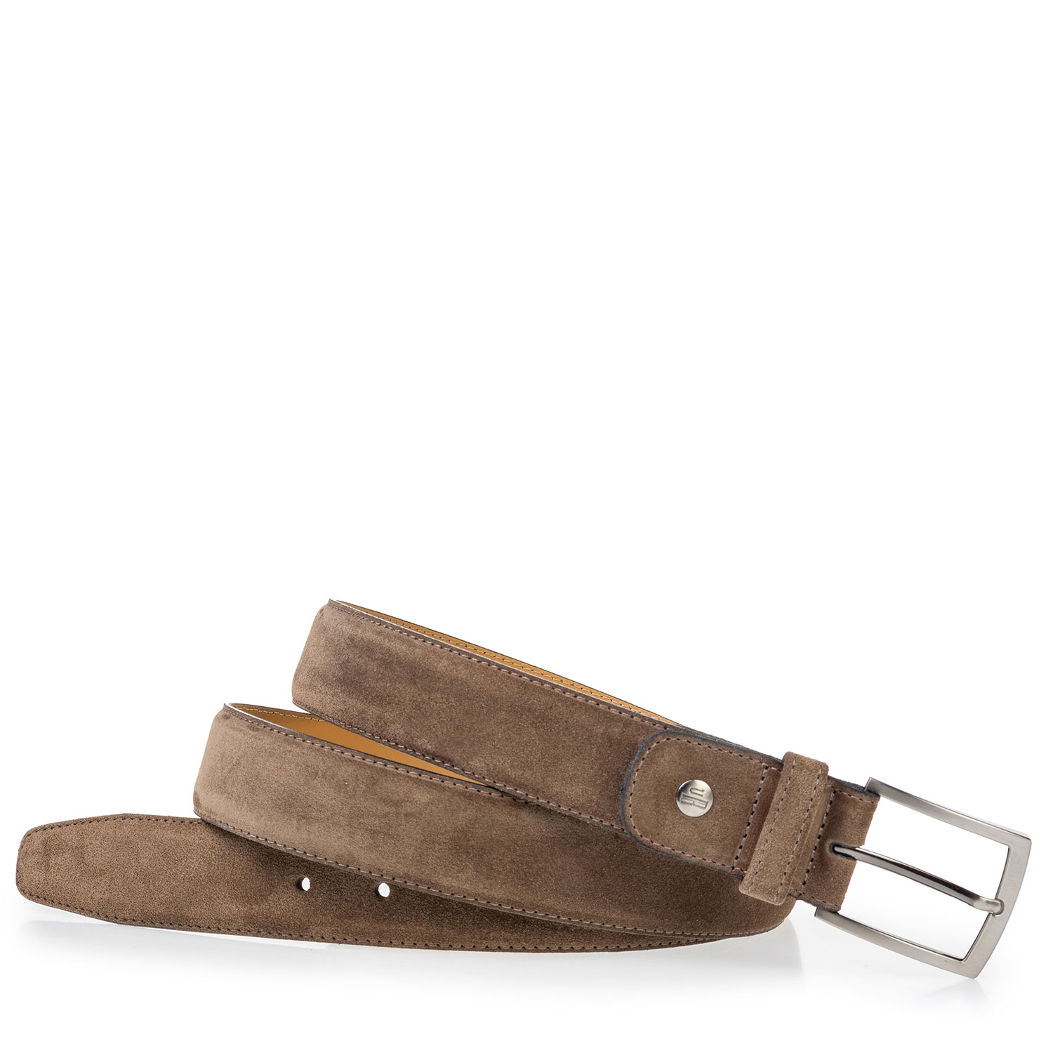 75533/53 - Suede leather belt taupe