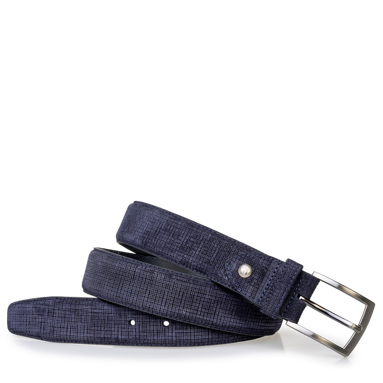 75203/96 - Belt printed suede leather blue