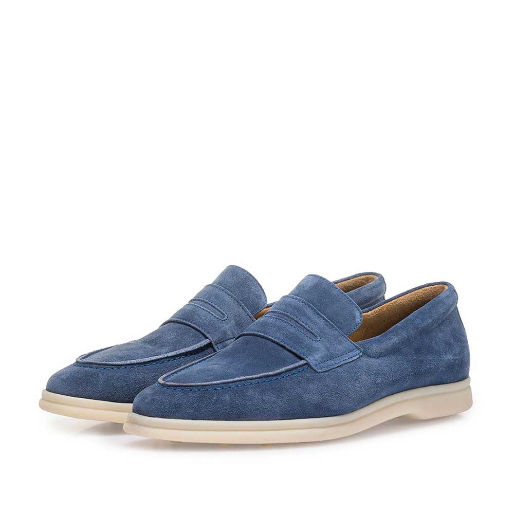 11205/04 - Blue suede leather loafer