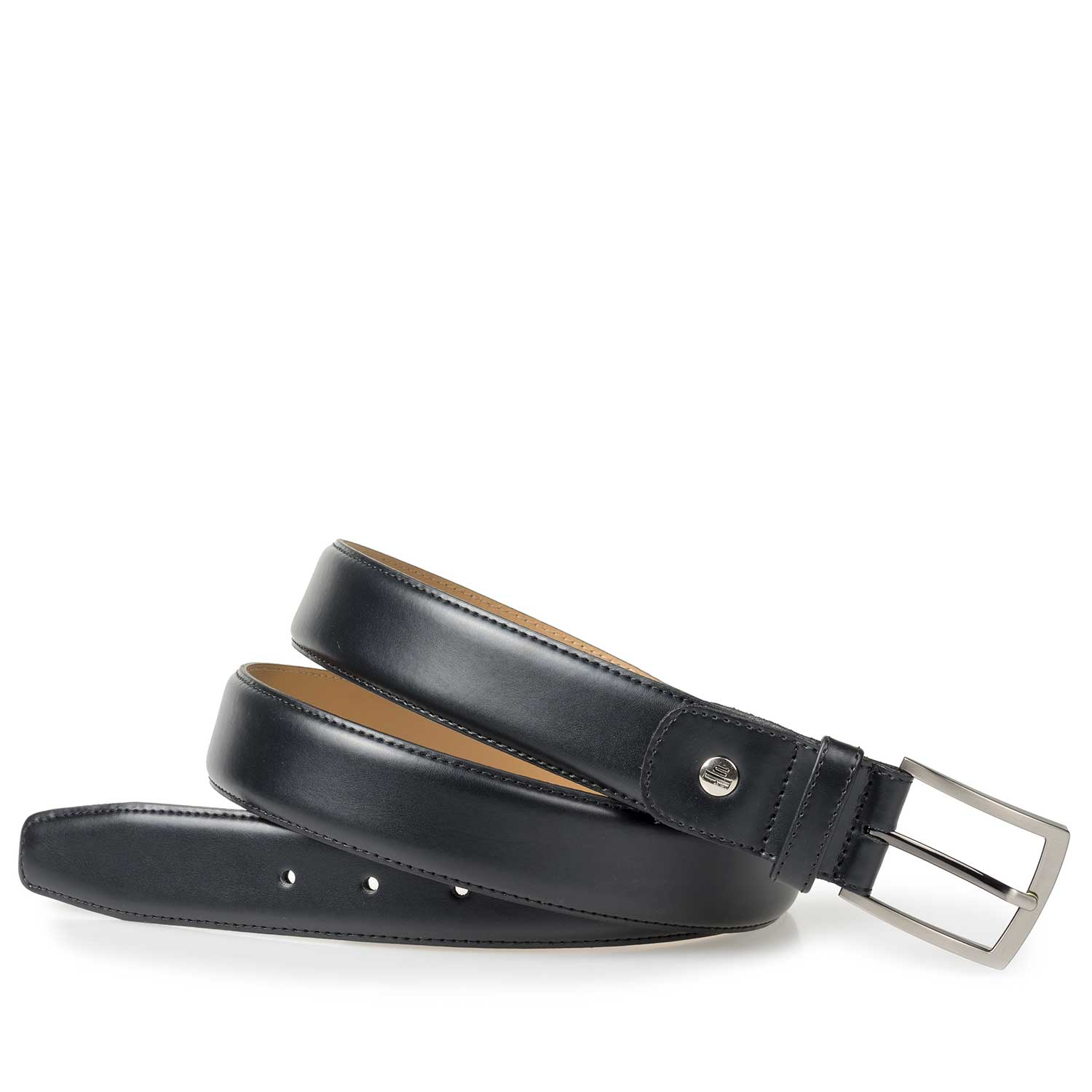 75076/01 - Black calf leather belt