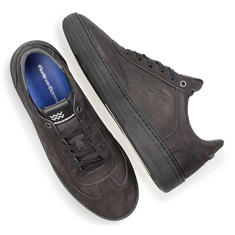 Schwarzer Nubukleder Van Premium Bommel 1625507Floris Sneaker kuXiOPZ