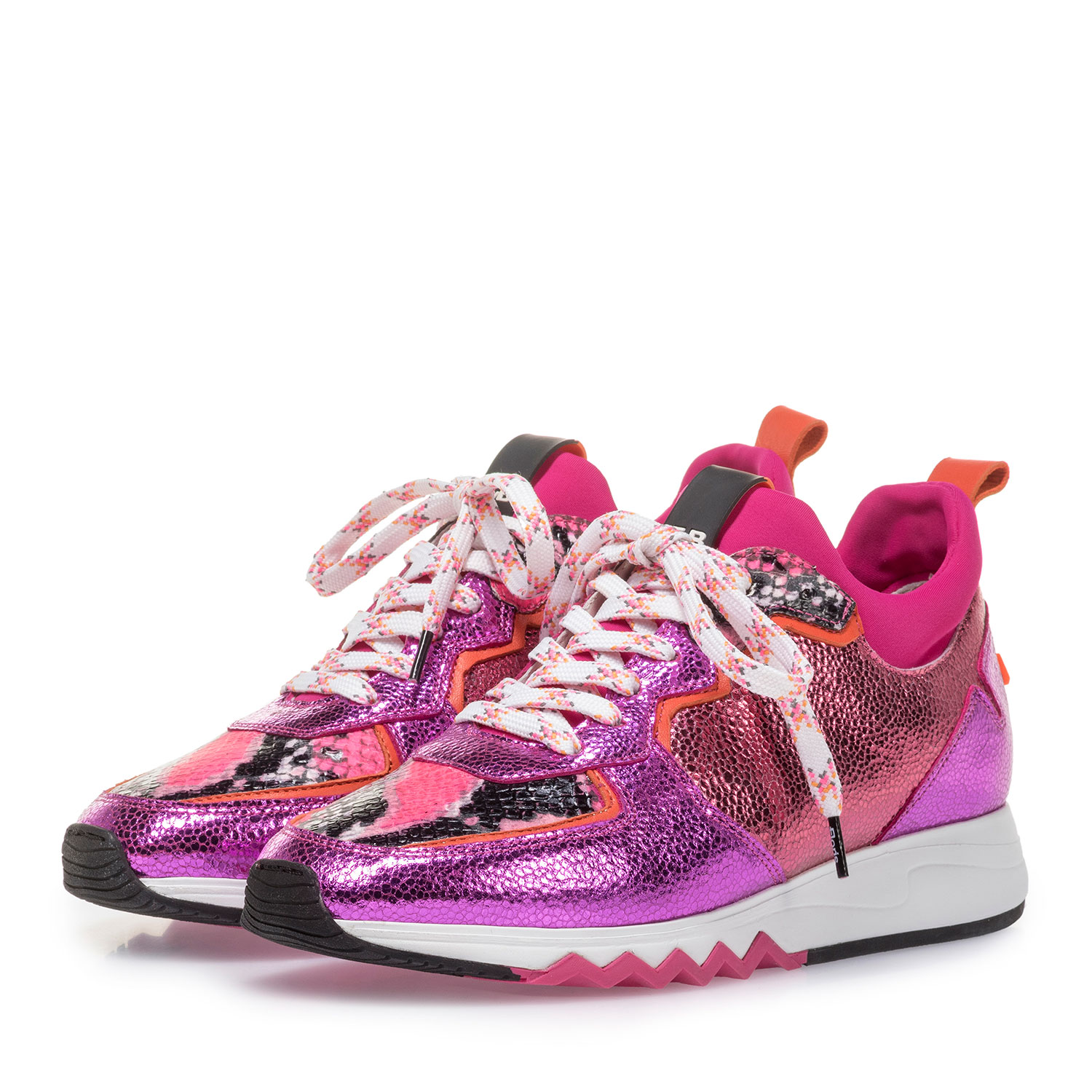 85309/07 - Sneaker with red and pink metallic print