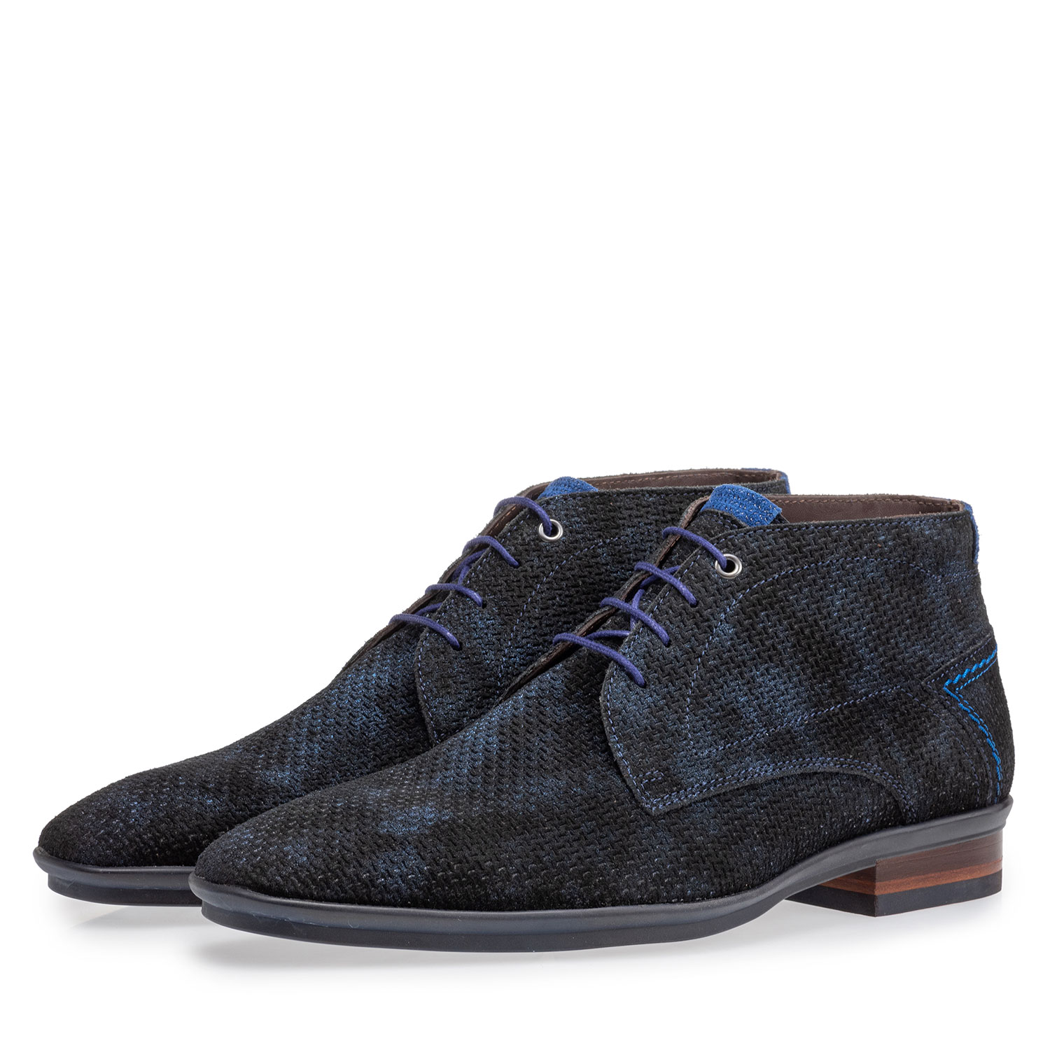 20440/23 - Lace boot blue with print