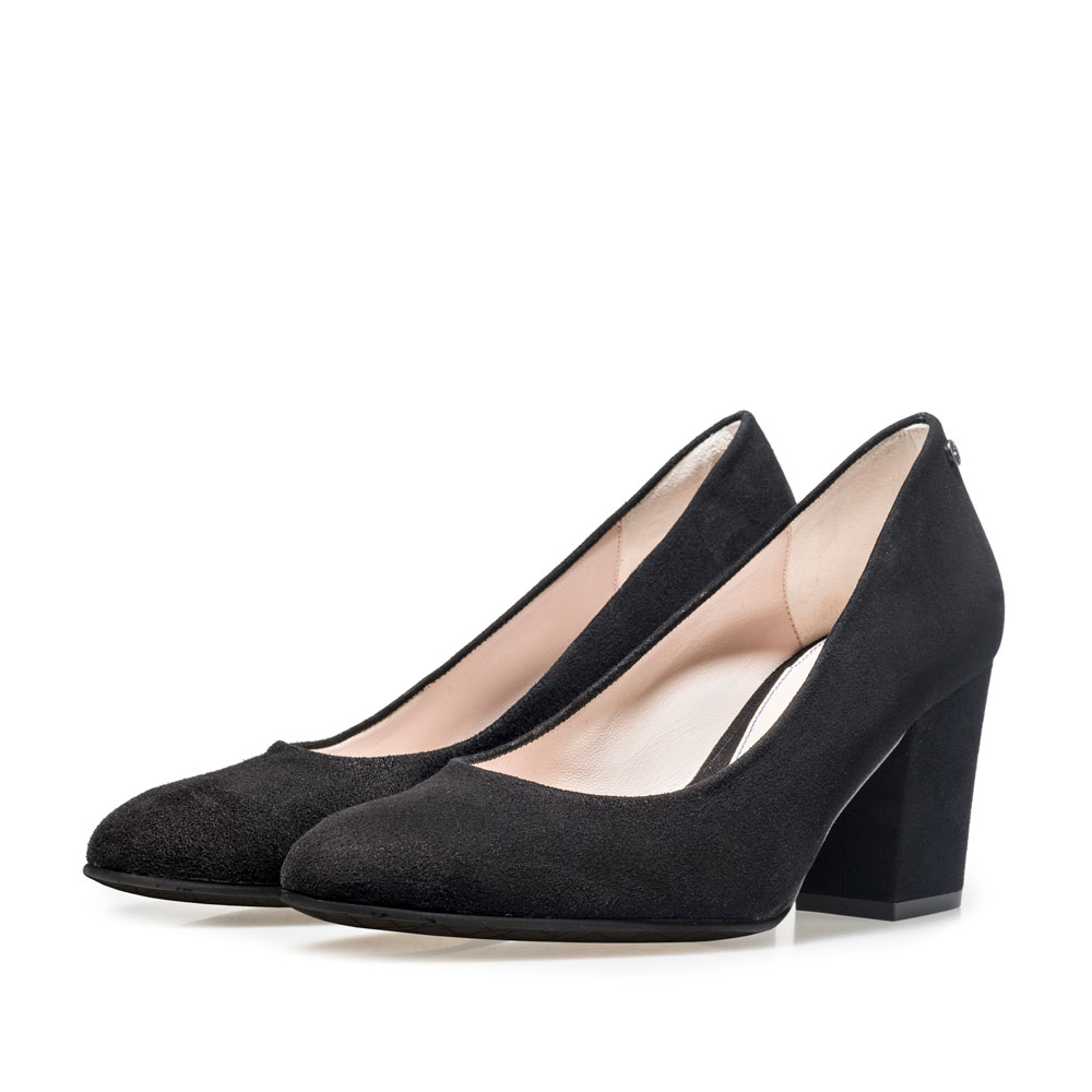 85520/03 - Schwarze Wildleder-Pumps