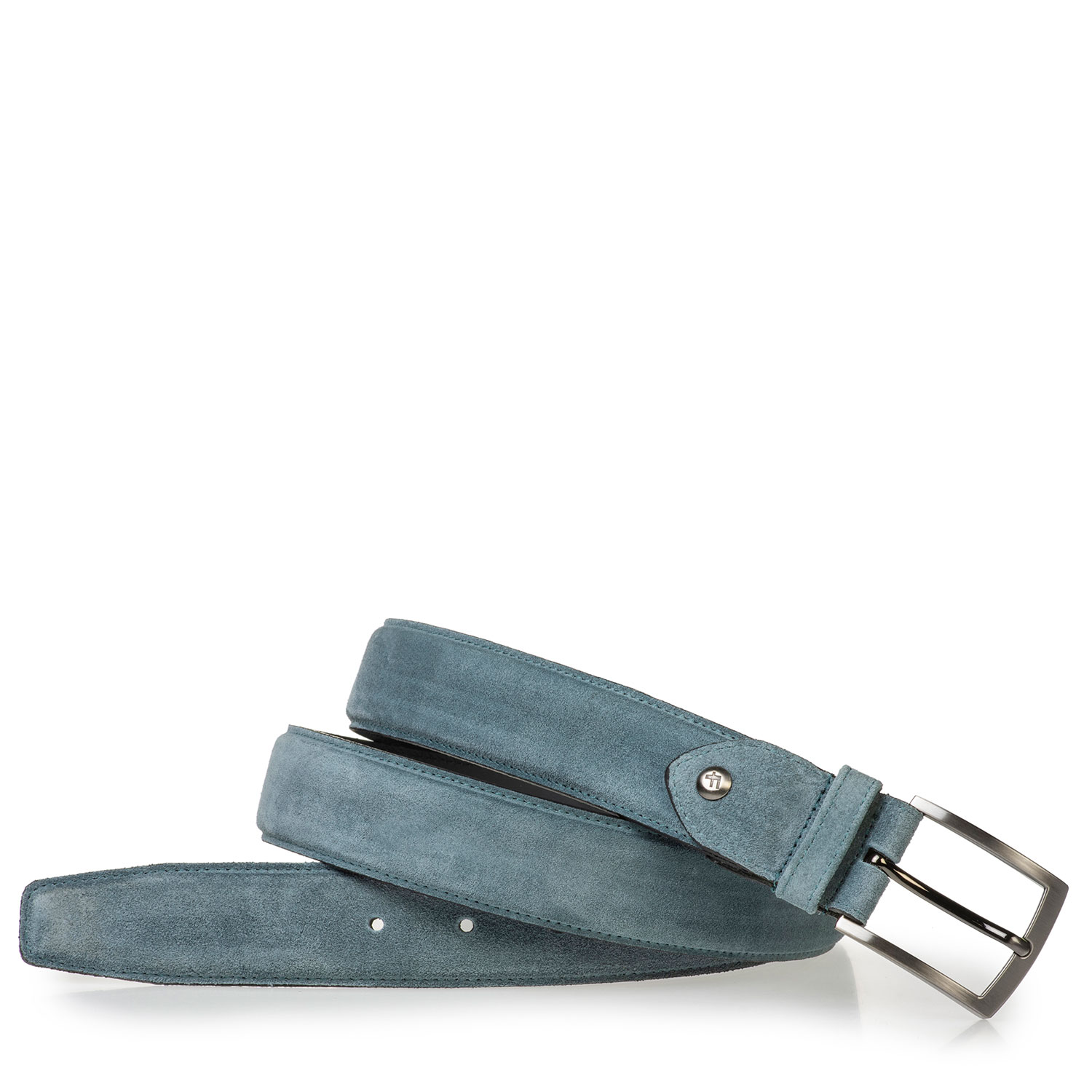 75201/94 - Light blue belt made of waxed suede leather